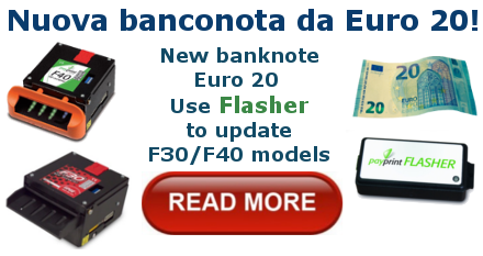 New banknote Euro 20  Use Flasher to update F30/F40 models